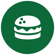 Graphic of a burger