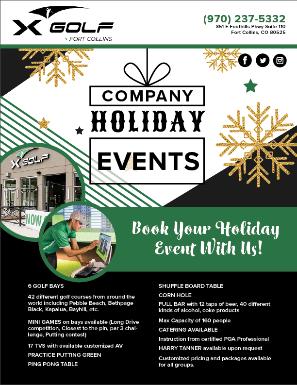 X-Golf Holiday Events poster