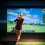 Image of older man watching where his X-Golf shot went