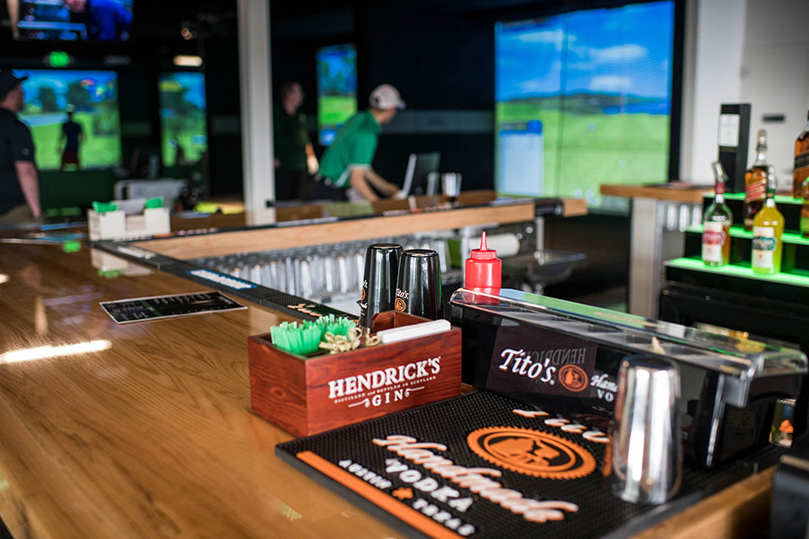 Image of Clean X-Golf Bar Counter