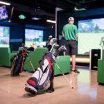 Image of Titleist golf bag in X-Golf