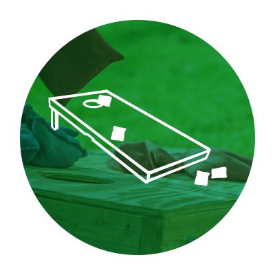 Graphic of bean bag toss board