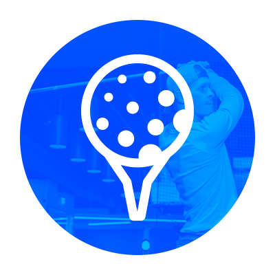 Graphic of golf ball on tee